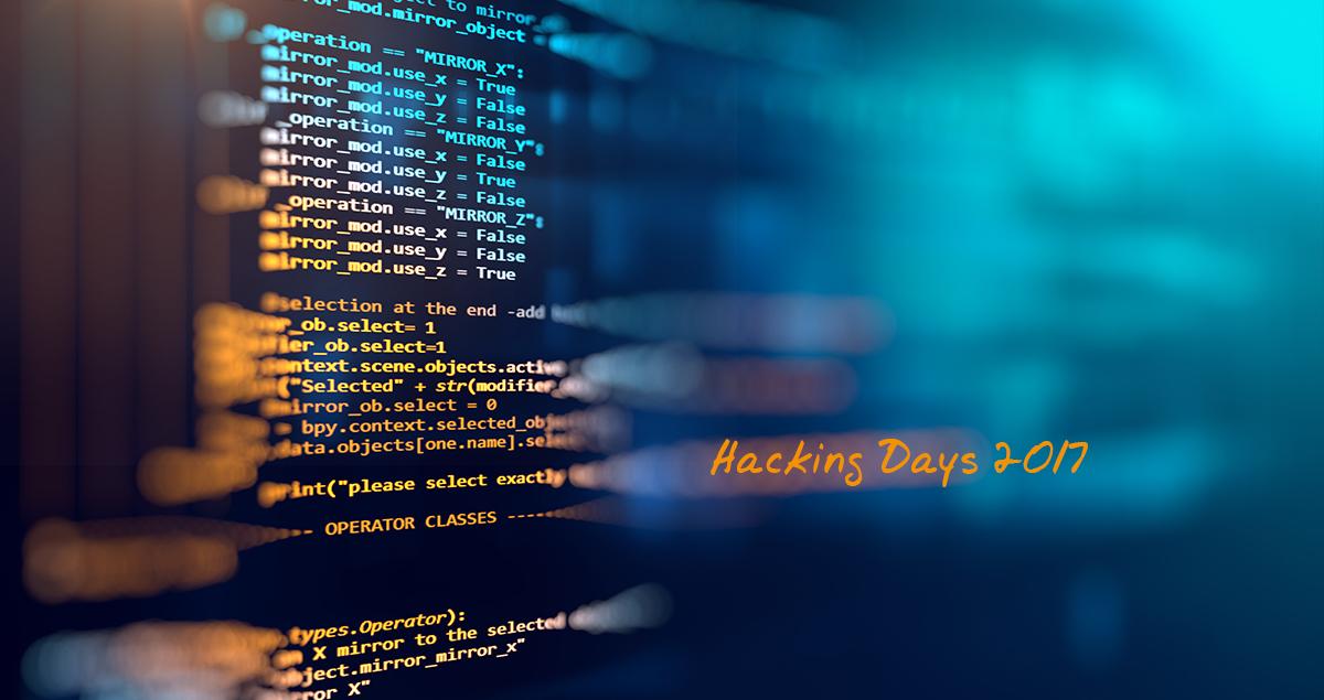 Hacking Days 2017 – ein Rückblick